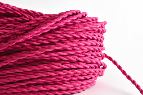 Pink Twisted Fabric Cord by the Foot