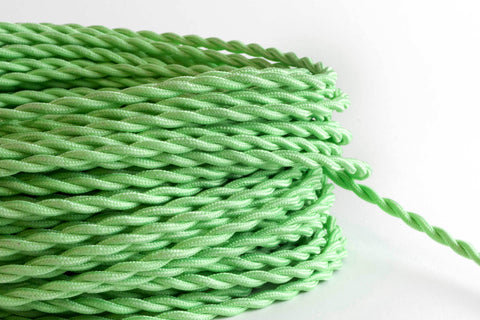 Mint Twisted Fabric Cord by the Foot