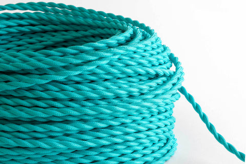 Turquoise Twisted Fabric Cord by the Foot
