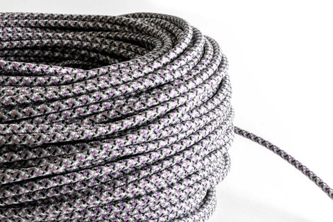 Grey Tweed Fabric Cord by the Foot