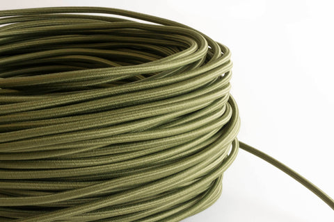 Olive Fabric Cord by the Foot