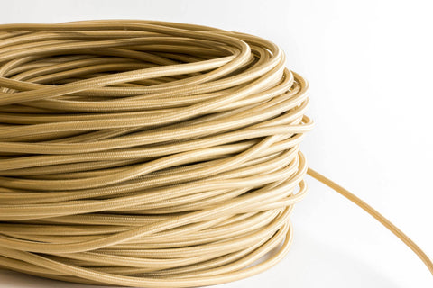 Tan Fabric Cord by the Foot