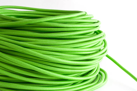Lime Fabric Cord by the Foot