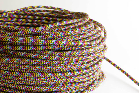 Rainbow Fabric Cord by the Foot