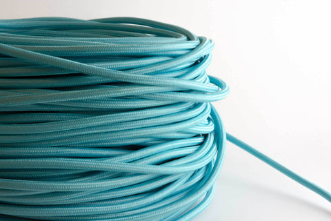 Aqua Fabric Cord by the Foot