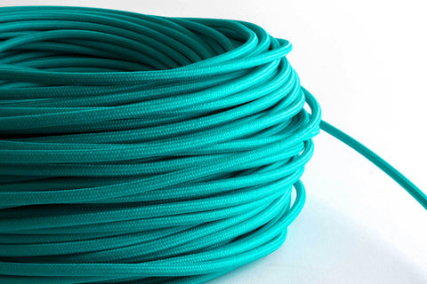 Turquoise Fabric Cord by the Foot