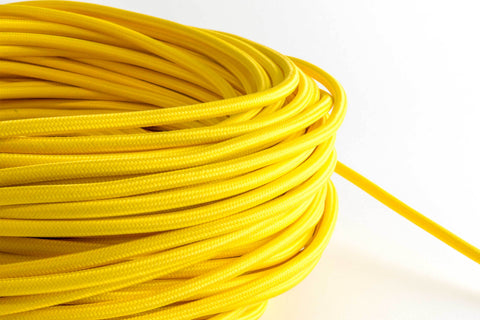 Yellow Fabric Cord by the Foot