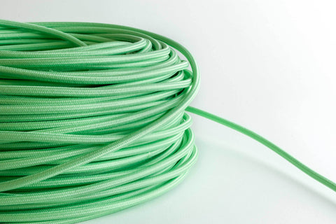 Mint Fabric Cord by the Foot