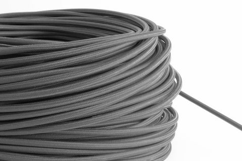 Grey Fabric Cord by the Foot