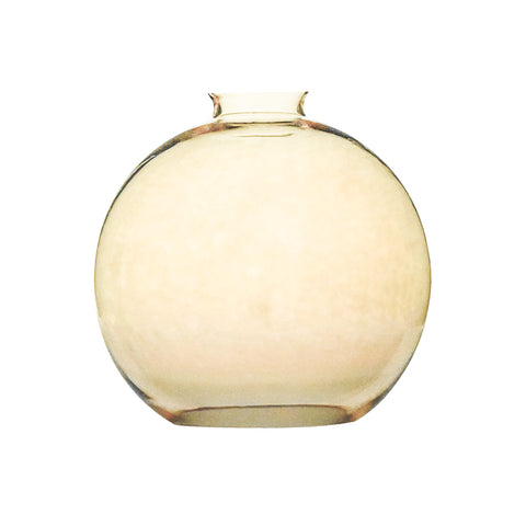 Amber Glass Globe Shade 8""