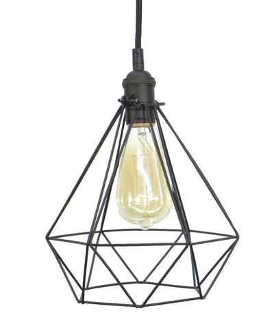 Black Diamond Cage Pendant Light