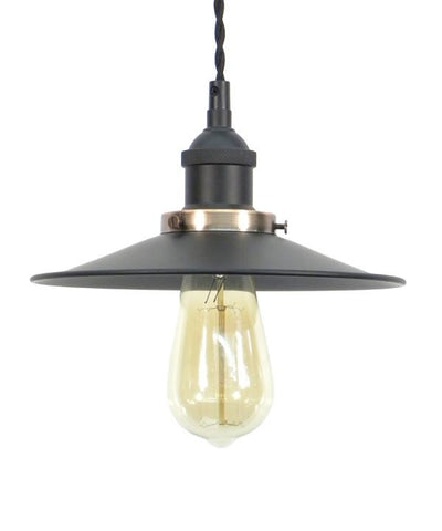 Black Flat Shade Pendant Light