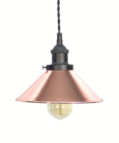 Black Copper Shade Pendant Light