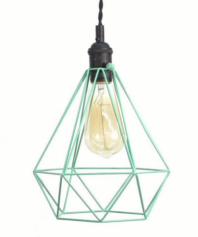 Black Mint Diamond Cage Pendant Light
