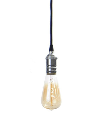Black Chrome Pendant Light