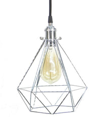 Black Chrome Diamond Cage Pendant Light