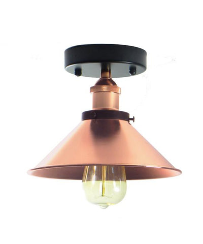 Copper Flush Mount Shade Light
