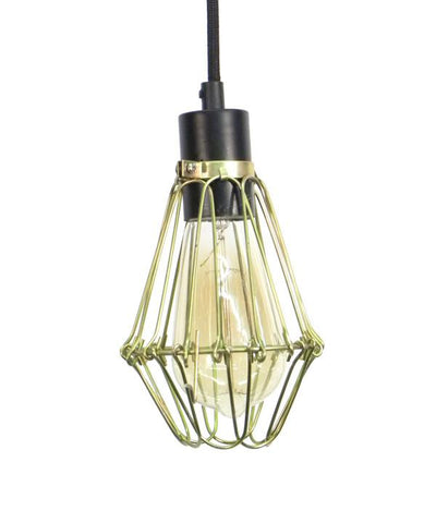 Black Brass Hinge Cage Pendant Light