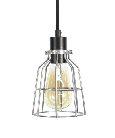Black Steel Cage Pendant Light