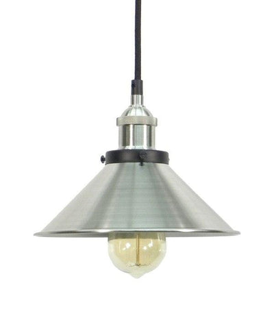 Nickel Shade Pendant Light
