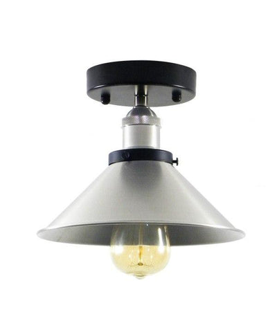 Nickel Flush Mount Shade Light
