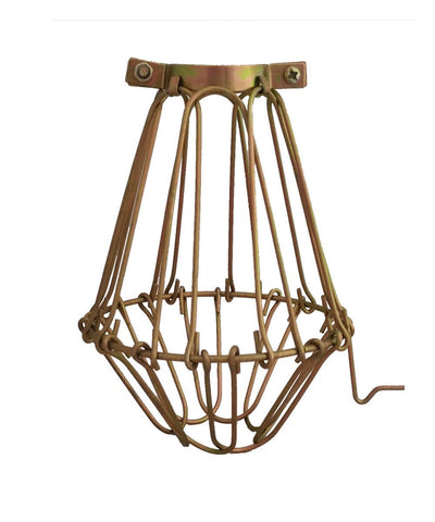 Brass Hinge Light Bulb Cage
