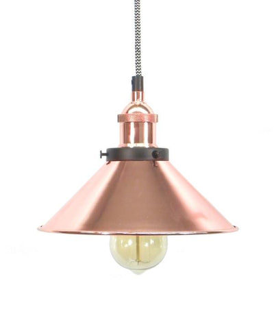 Chevron Copper Shade Pendant Light