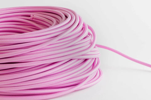 Bubblegum Fabric Cord by the Foot