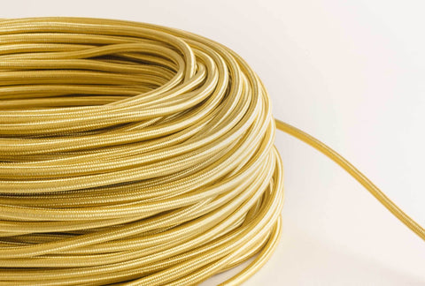 Gold Fabric Cord by the Foot