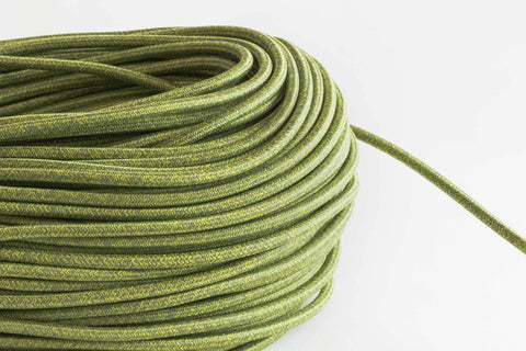 Green Tweed Fabric Cord by the Foot