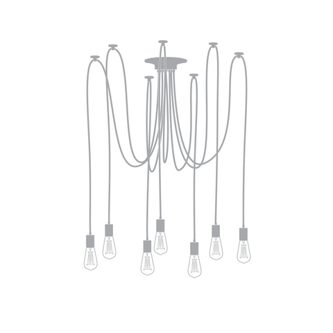 Swag chandeliers design your own or choose from our collections 7 pendant swag chandelier aloadofball Choice Image
