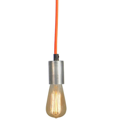 Orange Steel Pendant Light