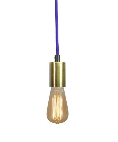 Purple Antique Brass Pendant