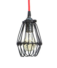 Red Graphite Cage Pendant Light