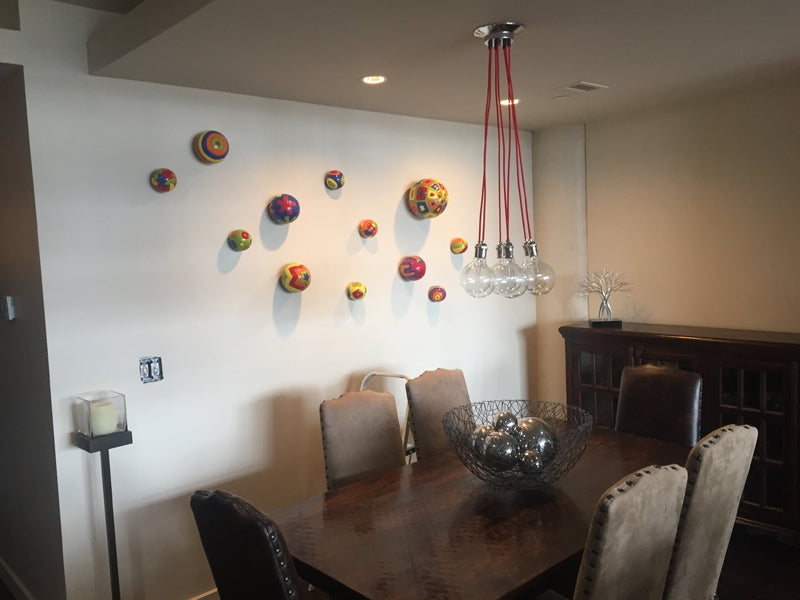 Pendant Light Cluster over a Dining Table
