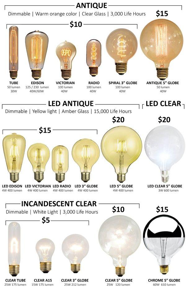 Edison LED Bulbs Choices