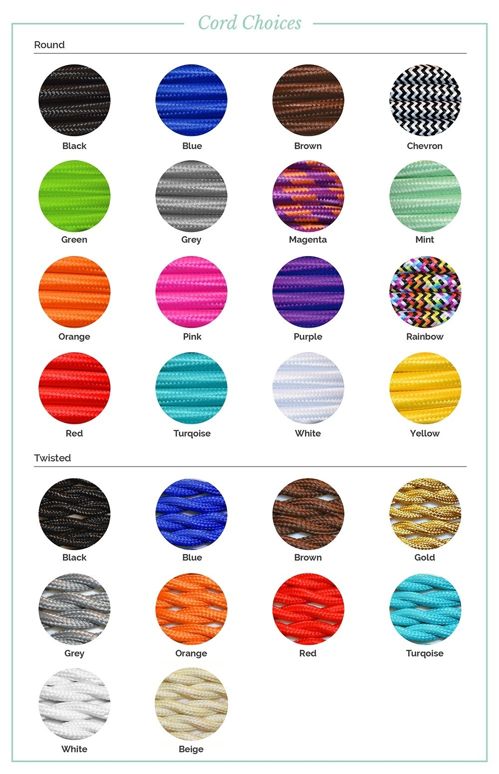 Color Cord Choices Pendant Light