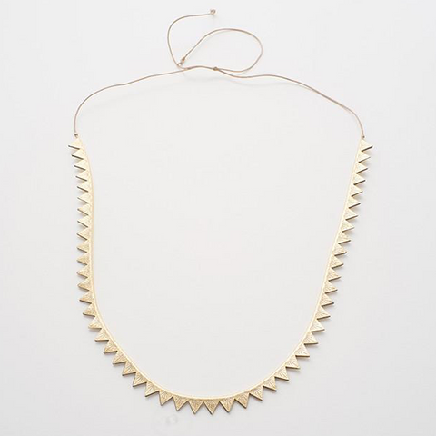 Gold Triangle Burst Necklace