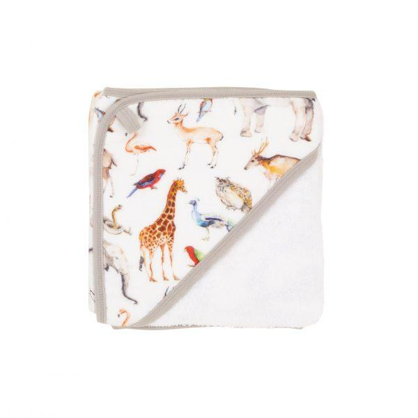 Hooded towel - Animal Safari - Baby Luno