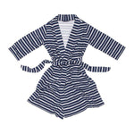 Mummy Robe Cardi - Blue Stripe - Baby Luno