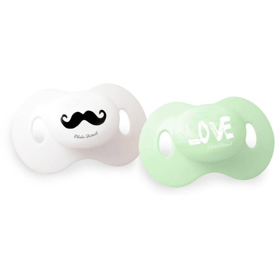 Dummy - Moustache LOVE 2-pack - Baby Luno