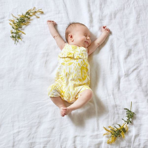 Baby Playsuit - Mellow Yellow Ruffle Singlet Strap - Baby Luno