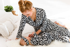 Knotted Onesie - Leopard - Baby Luno