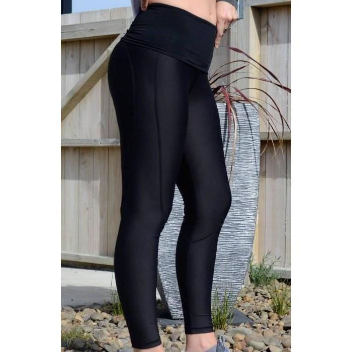 Maternity Leggings - Cadenshae Full Length Pregnancy & Postpartum - Baby Luno