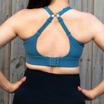 Nursing Sports Bra - Maze High Impact Ocean Blue