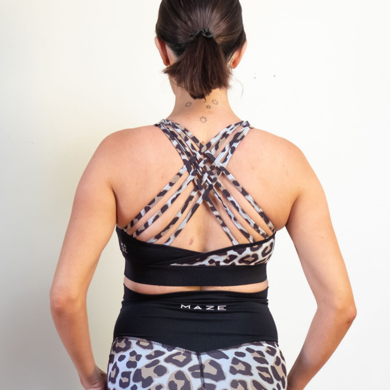Nursing Sports Bra - Maze Ashy Collection - Baby Luno