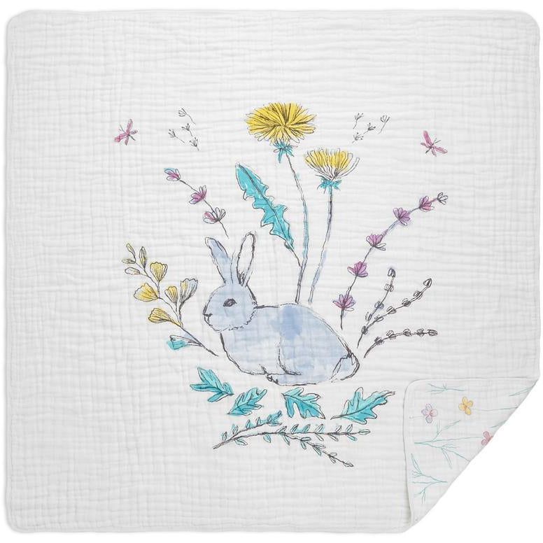 Baby Blanket - Forest Fantasy Rabbits
