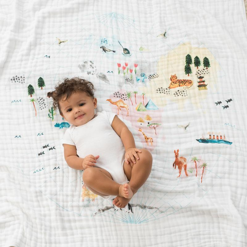 Baby Blanket - Around The World Map - Baby Luno