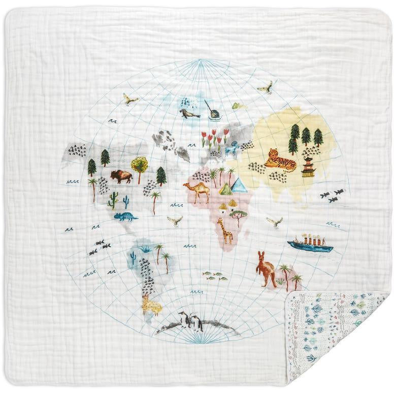 Baby Blanket - Around The World Map
