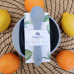 Stickie Bowl & Spoon Set - Dark Grey